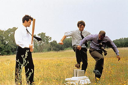 office space - destroying the copier